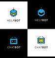 network logos set 4 vector image vector image