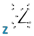 numbers game letter z vector image vector image
