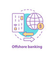 offshore banking concept icon vector image vector image