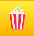 popcorn box movie cinema icon in flat design vector image vector image