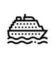 public transport ferry thin line sign icon vector image vector image