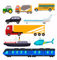 public urban transport for the transport of people vector image vector image