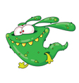 running monster vector image