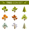 Set of different trees rocks grass Sprites for vector image vector image
