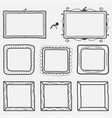 set of hand drawn picture frames vector image