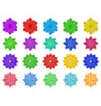 set of paper flowers vector image vector image