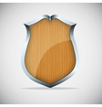 Shield with wood texture vector image vector image