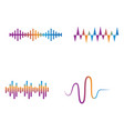 sound wave ilustration logo icon template vector image vector image