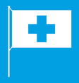 switzerland flag icon white vector image