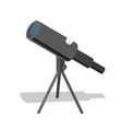 telescope optical instrument helps in observation vector image