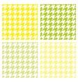 Tile houndstooth pattern green wallpaper set vector image vector image