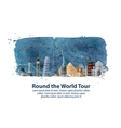 travel journey historic buildings of the world vector image vector image