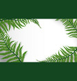 tropic leaves background with copyspace for text vector image vector image
