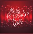 valentines day lettering background vector image vector image