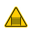 warning sign symbol with barbed wire fence note vector image vector image