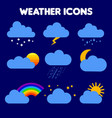 weather rain storm lightning vector image