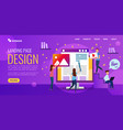 web design studio develops website design people vector image vector image