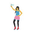 young woman taking selfie vector image vector image