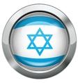Israel flag metal button vector image