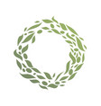 circle round green leaf abstract logo vector image