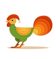 Colorful New Year 2017 bird symbol design vector image