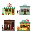 Cool set of detailed flat design city public vector image