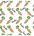 Eastern Carrot Seamless Pattern vector image