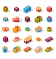 Isometric gift box set vector image