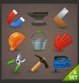 tools icon set-6 vector image