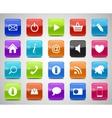 Glass Button Icon Set vector image
