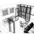layout of the apartment vector image