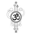 om modern tattoo vector image