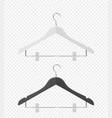 3d realistic clothes coat wooden textured vector image