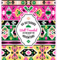 american bright indian ornate seamless pattern vector image
