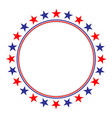 american flag stars symbols frame vector image vector image