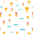 award seamless pattern gold cup prize vector image vector image