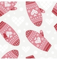 Background with cute mittens vector image