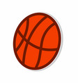 ball basketball sticker concept vector image