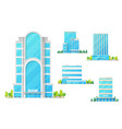 banks and finance center buildings architecture vector image
