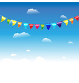 Birthday Flags vector image vector image