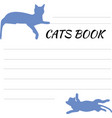 blank for records with cat sign-up sheet with cats vector image