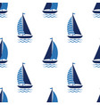boat cute seamless pattern on white background vector image vector image