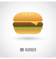 Burger icon vector image vector image