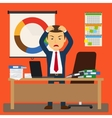 Businessman stress at work vector image vector image