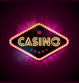 casino with shiny lighting display vector image vector image