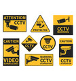 cctv stickers various security camera equipment vector image