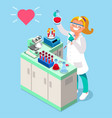 clinical laboratory people isometric icons vector image