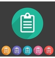 Clipboard checklist rules icon flat web sign vector image vector image