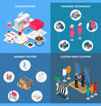 clothes factory concept icons set vector image vector image