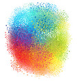 colorful background with splash vector image vector image